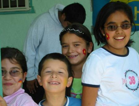 Photo of Salinas Valley children at a CHAMACOS community event.